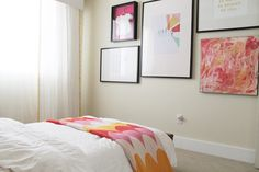 Gallery Wall: nice large prints and art work. blogger: Chris loves Julia