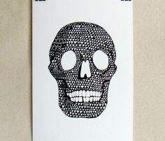 Skull Glossy Art Print  by A Million City Lights