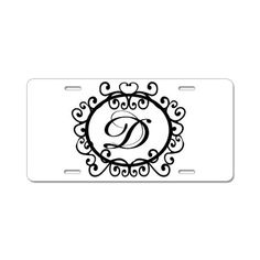 Monogram License Plates - cool!