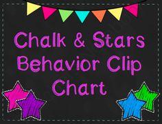 Bright Chalk & Star Behavior Clip Chart from Mrs. A. Colwell's Creations on TeachersNotebook.com -  (8 pages)  - Bright Chalk & Star Behavior Clip Chart kinder idea, summer 2014, star behavior, classroom decor, clip chart, classroom manag, behavior clip, behavior manag