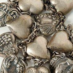 vintage silver lockets