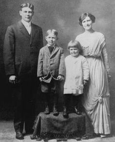 The Reagan family poses for a photo circa 1913 in Tampico, Ill. From left: John Reagan, his sons Neil and Ronald, and his wife Nelle Wilson Reagan.