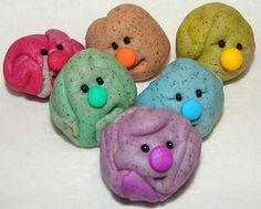 Rainbow edition polymer clay pet rock