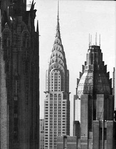 William Van Alen - Chrysler Building - New York, NY - 1930.  The Waldorf Astoria is in the foreground to the right.