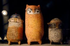 owl canisters by Stacie Van Arsdale