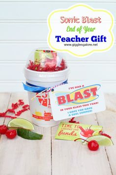 Sonic Blast End of Year Teacher Gift by Giggles Galore
