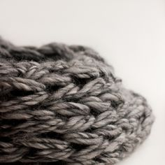 Image of Super Chunky 100% Wool Infinity Scarf Cowl in Heather Gray