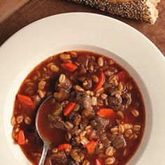 Quick Beef & Barley Soup
