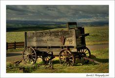 Old horse drawn wagon at The Dalles Mountain Ranch by Garry Liddell hors drawn, wagons and buggies, rustic wagon, drawn wagon, hors wagon