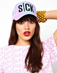 colour ombr, ombre, color ombr, style, multi color, girl multi, sick girl, snapback cap, hat