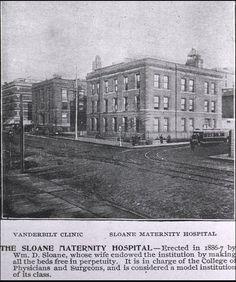 Consuelo Vanderbilt's aunt Mrs. W. D. Sloane (Emily Thorn Vanderbilt) and her husband were benefactors of Sloane Maternity Hospital and the Vanderbilt Clinic in New York.