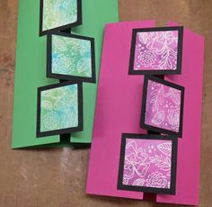 Hobby Boden's Blog: How-to: Gatefold card with squares I like the squares covering the close.