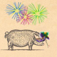 Porter the Pig on Mardi Gras http://www.temeculacreekinn.com/cork-fire-kitchen/