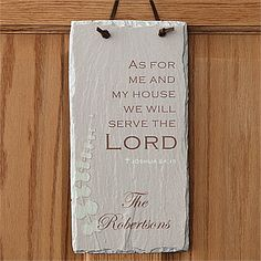 We Will Serve The Lord Personalized Slate