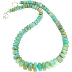 Rare Peruvian Opal Necklace from Carol Barrett Jewelry on Ruby Lane