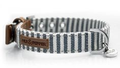 Striped dog collar