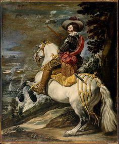 Don Gaspar de Guzmán (1587–1645), Count-Duke of Olivares  Velázquez (Diego Rodríguez de Silva y Velázquez) (Spanish, Seville 1599–1660 Madrid)  Date: ca. 1635 Medium: Oil on canvas Dimensions: 50 1/4 x 41 in. (127.6 x 104.1 cm) Classification: Paintings Credit Line: Fletcher Fund, 1952 Accession Number: 52.125