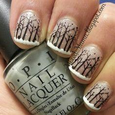love this! Winter Wonderland Nails - MixedMama