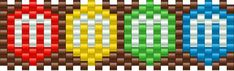 m and ms bead pattern