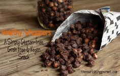 Chocolate Coated Chickpeas | Healthy Whoppers vegan snacks, coat chickpea, sweet treats, chickpea dessert recipes