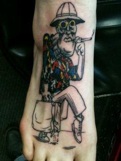 Tattoospiration on pinterest marilyn manson que sera for Hunter s thompson tattoos