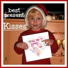 Kisses on Canvas  kids craft