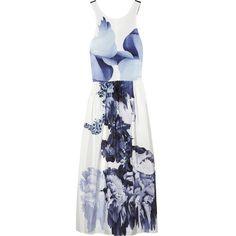 Tibi Floral-print silk dress