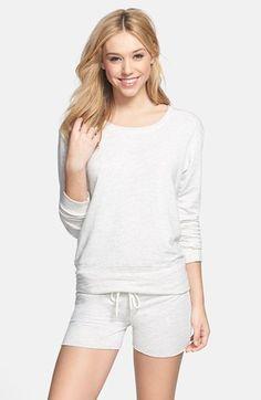 Monrow Sweatshirt & Shorts | Nordstrom- lounge set!