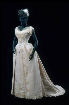 Evening Dress, House of Worth, 1880, French, Made of bengaline and tulle