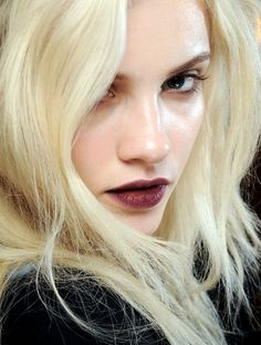 burgundy and blonde- fall