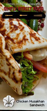 """Chicken Musakhan Sandwich - Click through for recipe. """"Simply Street Food"""" #recipe #streetfood @Omni Hotels & Resorts"""