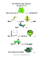 St. Patrick's Day Limericks - Language Exercises - pinned by @PediaStaff – Please Visit  ht.ly/63sNt for all our pediatric therapy pins