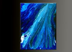 Blue Agate - Acrylic Abstract Painting