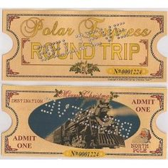 Print Out tickets for the kids at Polar Express/Cookie Party