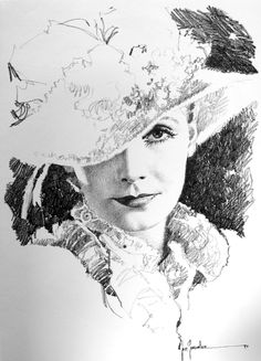 Greta Garbo 8 (Limited Edition Print) art by Jose (Pepe) Gonzalez at The Illustration Art Gallery