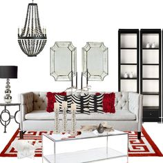 Contemporary style antique mirrors.