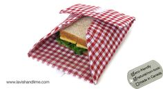 Reusable Sandwich Wrap. These are so great, especially since one can last an entire school year, and they double as a placement!