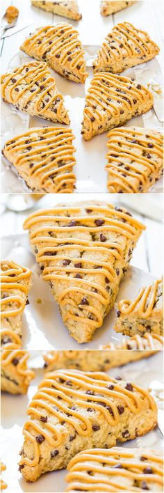 Peanut Butter Chocolate Chip Scones - Easy scones that are moist, full of flavor  loaded with chocolate chips! (and not dry!)