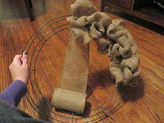 Little Snippets: DIY: Easiest Burlap Wreath Tutorial