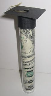 Graduation money tube idea