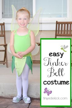 Easy Tinkerbell costume  80+ more DIY costume ideas! #halloween #tinkerbell #fairy