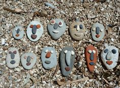 Stone friends (for summer camping craft)...go to the beach to gather the rocks first!