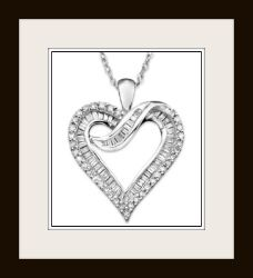 This fabulous white gold and diamond necklace is a very romantic piece Valentines jewelry which I assure you she will wear proudly on special occasions... #heartnecklace #jewelry #valentines #gifts