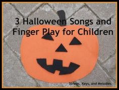 3 Halloween Songs and Finger Play for Children
