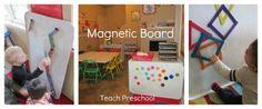 Magnetic Board from Teach Preschool