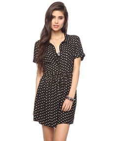 Bought this polka dot dress today along with a red belt...new outfit for less than 20 bucks...heck yes :) I love casual dresses!