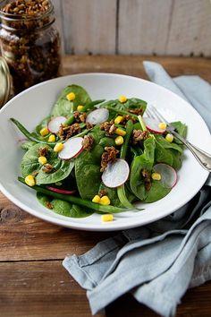 Memorial Day Whole Grain Recipes: Savory Granola Salad Topping | @Shaina Pagani Olmanson | Food for My Family   #memorialday #wholegrainholiday