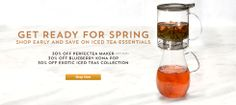30% off Perfectea Maker, Blueberry Kona Pop and Exotic Iced Teas Collection.