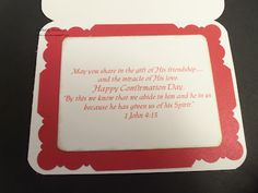 Confirmation Card pt 2