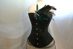 Black Satin Coutil Corsetspiral steel by MadToppingsCorsetry, $229.00